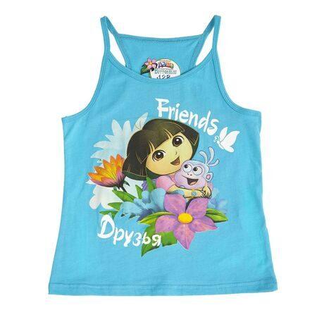 527178c057332 Купить летнюю одежду для девочки в Хабаровске, майка летняя для девочки  голубая, детская одежда дешево.