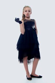 e933289dbde5e9c Нарядное платье для девочки Альпина, чёрное